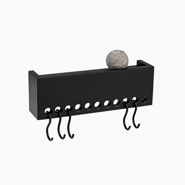 Nomess So-Hooked Wall Rack-30, Black-The Fjord Store