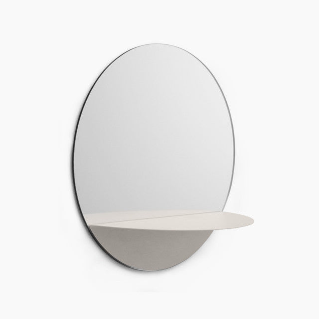 Horizon Round Mirror-White-Normann Copenhagen-The Fjord Store