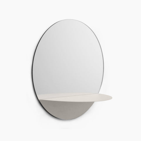 Horizon Round Mirror - Grey