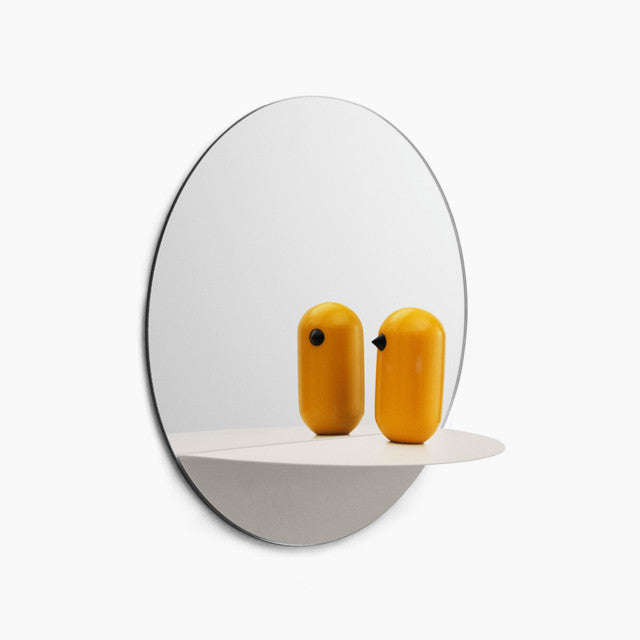 Horizon Round Mirror - White-Normann Copenhagen-The Fjord Store