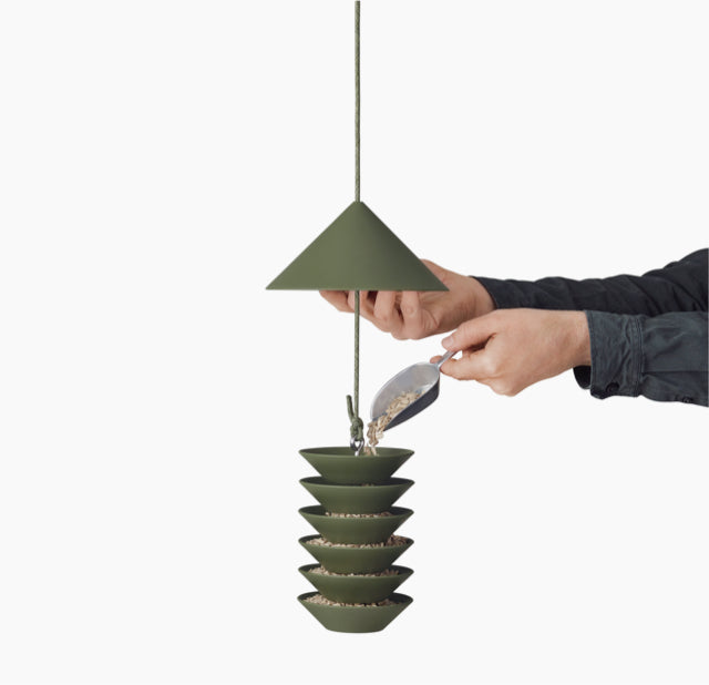 Silo-Bird-Feeder-Green-Pidat-The Fjord Store