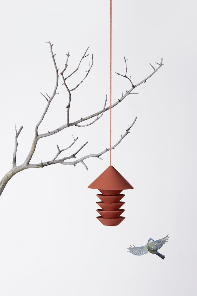 Silo-Bird-Feeder-terracotta-Pidat-The Fjord Store