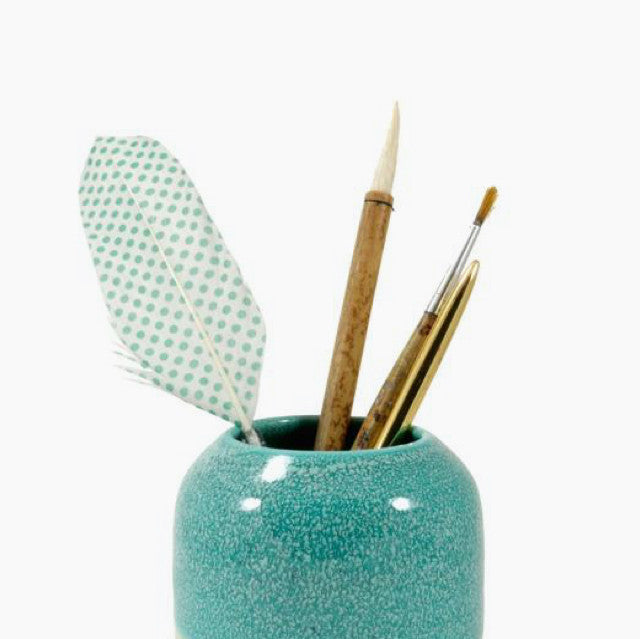 Pen Pot - Mint Leopard-Studio Arhoj-The Fjord Store