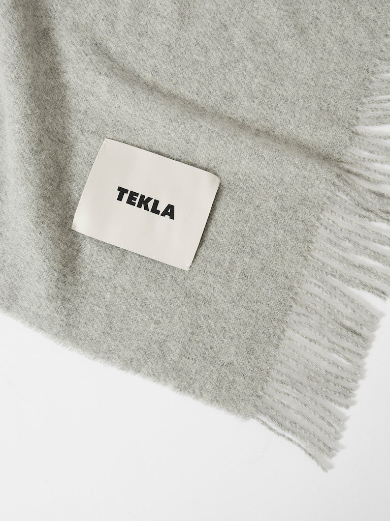 Wool Throw-Blanket-Grey-TEKLA-The Fjord Store
