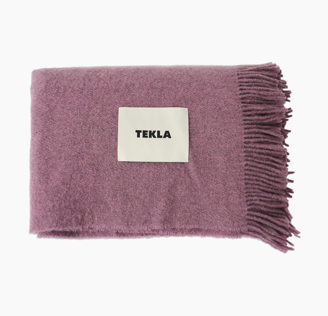 Wool Throw-Blanket-Lilac-TEKLA-The Fjord Store