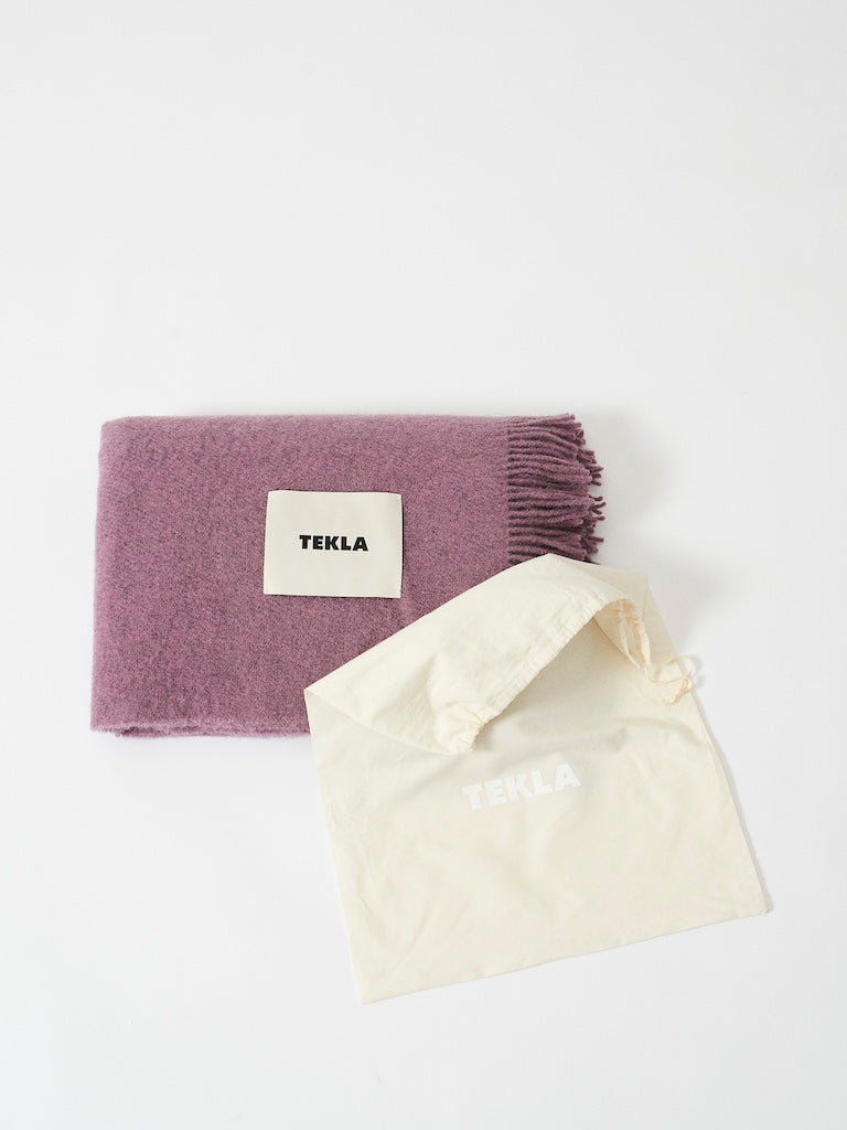 Wool Throw / Blanket - Lilac Lavender