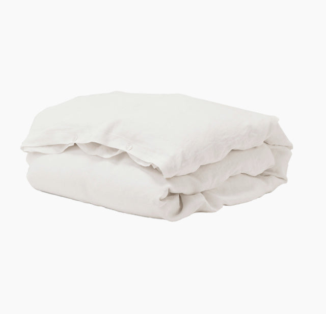 Duvet-Pillow-Cover-Creme-White-Linen-The Fjord Store
