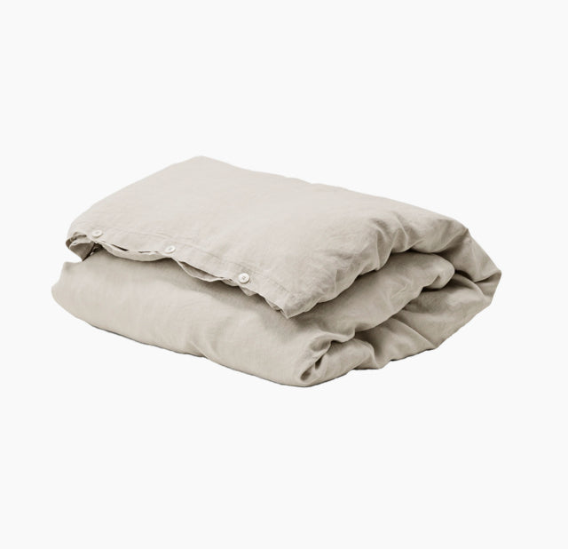 Duvet-Pillow-Cover-Sand-Grey-Linen-The Fjord Store