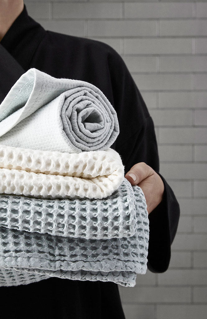 Big Waffle Hand Towel-White-The Organic Company-The Fjord Store
