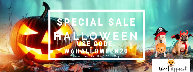 Woof Apparel Halloween 2018 Special Sale: 20% Off Dog Costumes!