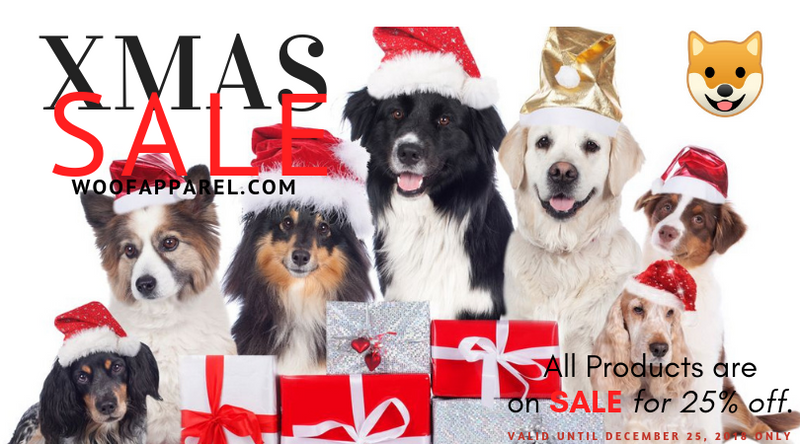 Christmas 2018 Special Sale: 25% Off On All Dog Clothing and Costumes!