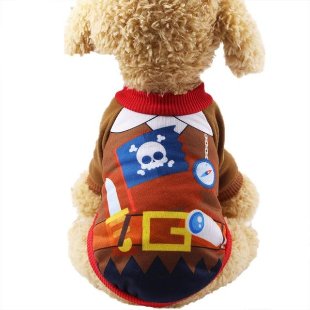 Adorable Little Pirate Warm Winter Sweater For Dogs