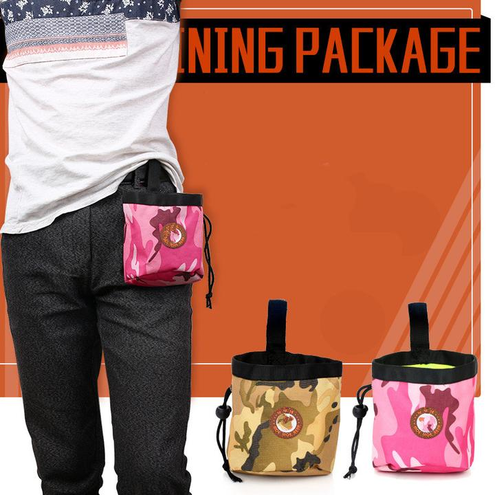 Camouflage Training Snack Waist Nylon Bag Dog Food Pouch