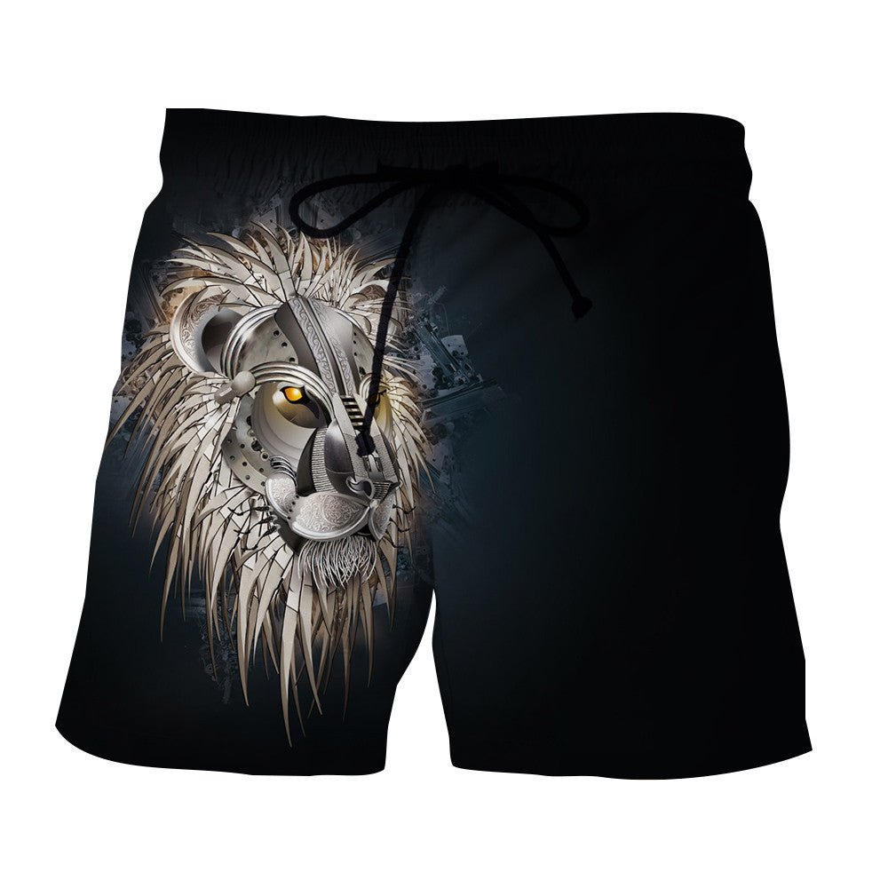 Armored Lion Warrior Impressive Design Streetwear Boardshorts