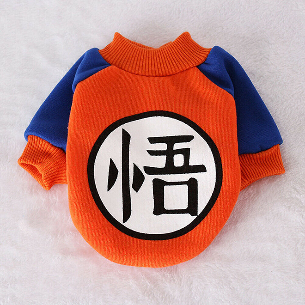 Son Goku Orange Anime Winter Outfit Puppy Sweatshirt