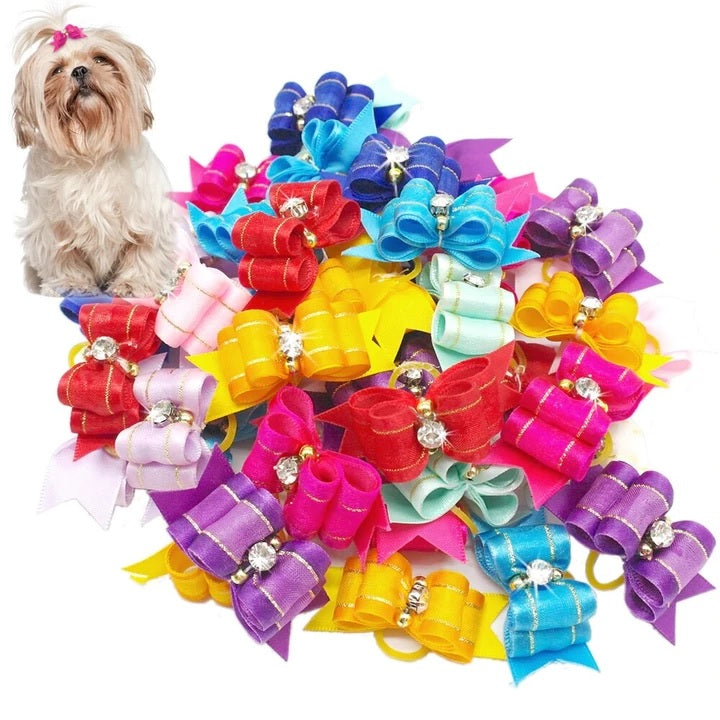 One Pack Colorful Hair Bows For Your Gorgeous Dogs And Cats