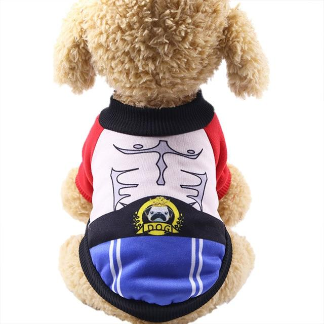 Adorable Boxer Outfit Winter Warm Coat Small Dog Sweater