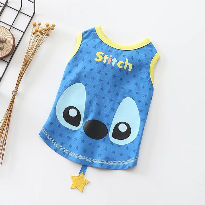 Adorable Stitch Star Spring Blue Small Dog Tank Top