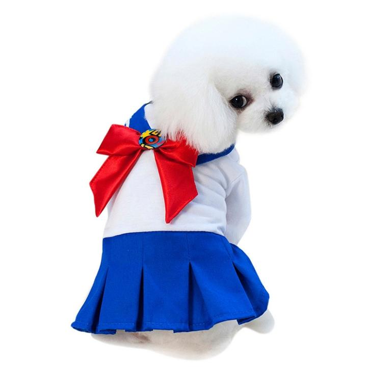 Lovely Sailor Suit Uniform Costume For Dogs