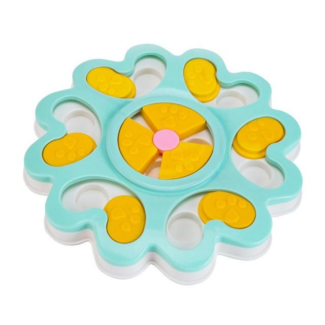 Adorable Two Color Flower Bowl Design Dog Food Dispenser