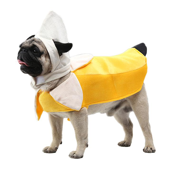 Funny Peeled Banana Fruit Costume for Dog