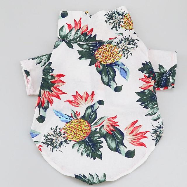 Pineapple Summer Collared Print Outfit Puppy Shirt