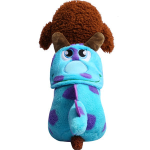 Adorable Smiling Blue Dragon Polka Dots Costume For Dogs - Woof Apparel