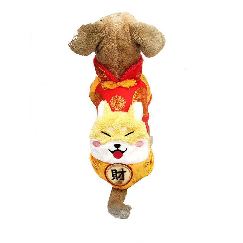 Cute Chinese Fortune Suit Costume For Dogs - Woof Apparel