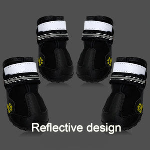 Waterproof Reflective Rubber Boots For Medium-Large Dogs