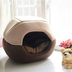 Cool Soft Two Way Pet House Cave Style Couch Dog Bed - Woof Apparel