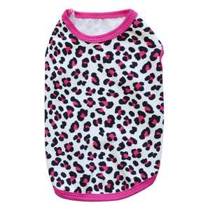 Leopard Print Summer Breathable Cotton Puppy Shirt - Woof Apparel