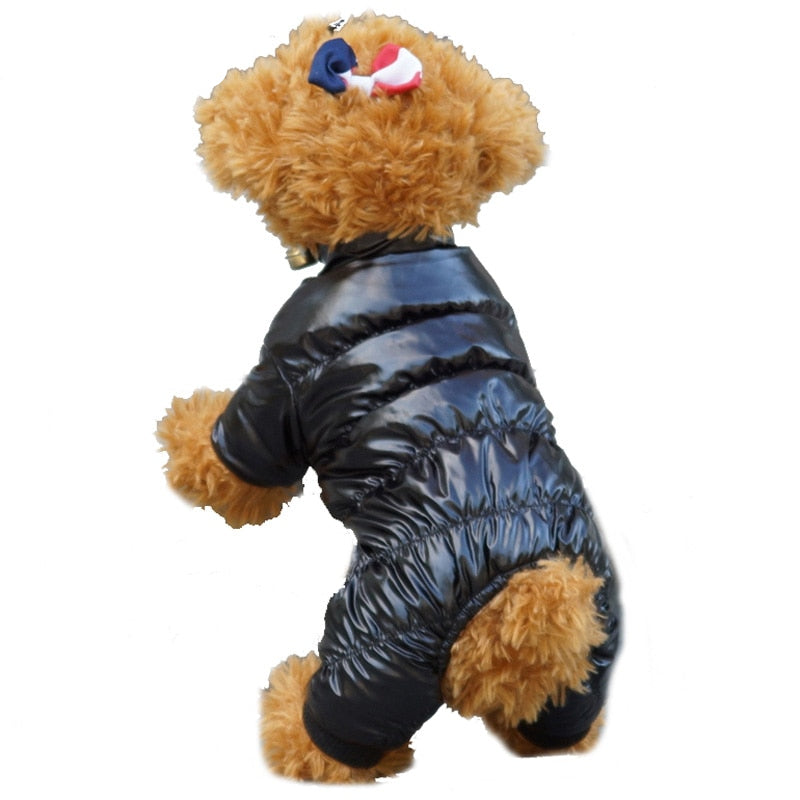 Fashionable Winter Soft Fleece Lining Puppy Jumpsuit Coat - Woof Apparel