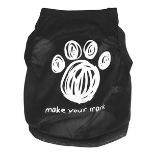 Make Your Mark Paw Pattern Dog Vest Summer Puppy Shirt - Woof Apparel