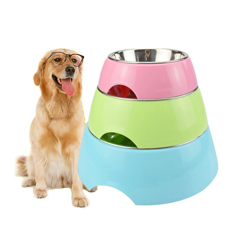 Stainless Steel Dog Water And Food Anti Slid Feeding Bowls