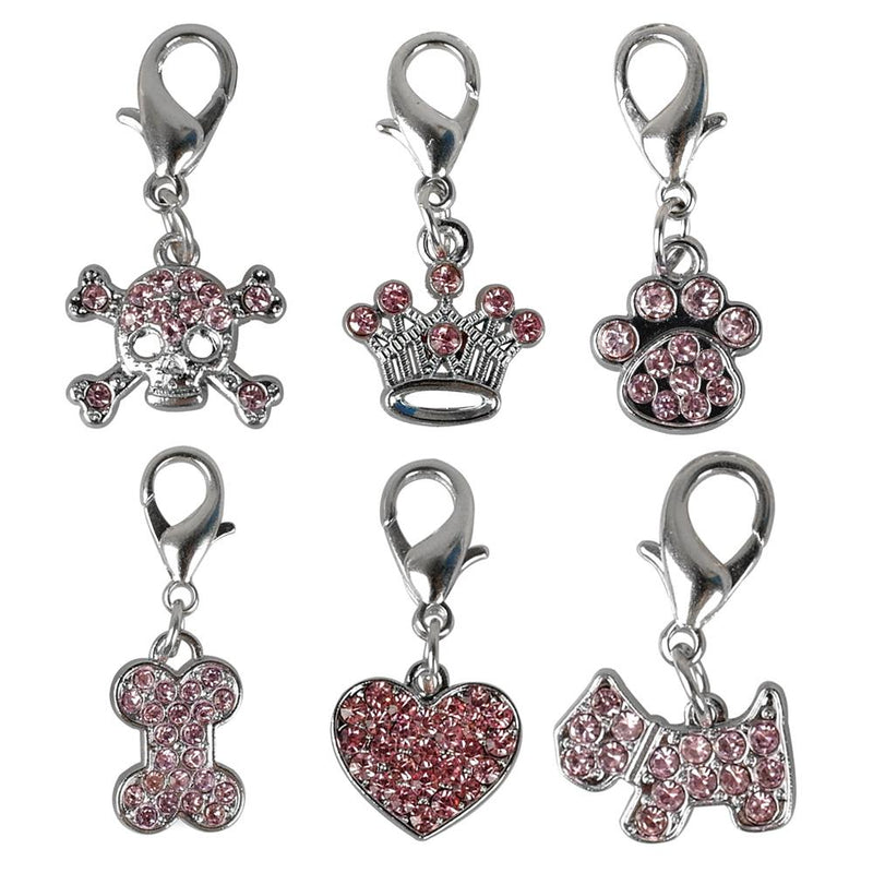 One Pack Crystal Charm Necklace Pendant For Your Pets