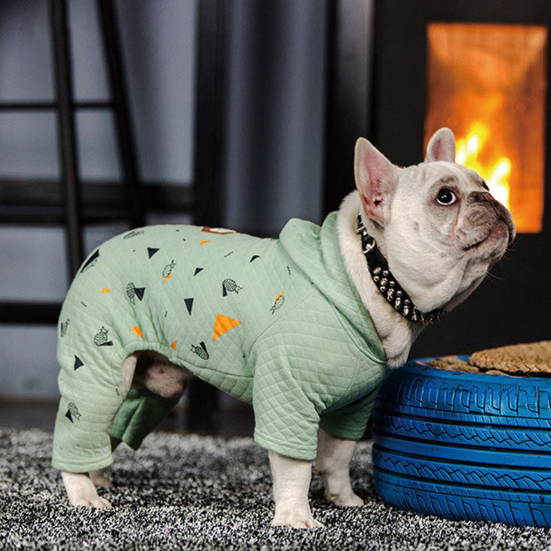 Triangle And Pineapple Design Overall Small Dog Jumpsuit - Woof Apparel