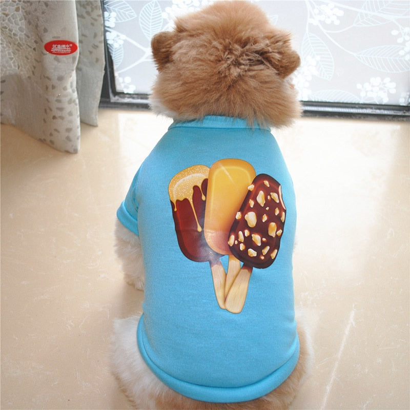 Delicious Popsicle Ice Cream Spring Blue Puppy Shirt
