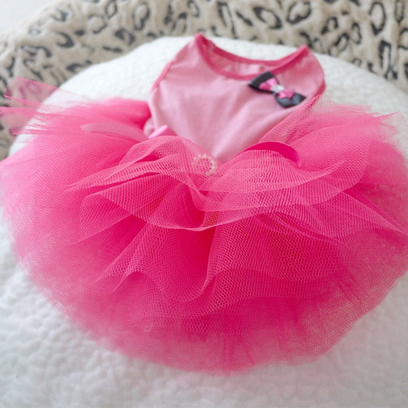 Cute Ribbon Tulle Skirt Spring Outfit Small Dog Dress