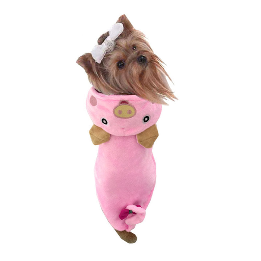 Cute Pink Pig Comfortable Hoodie Costume for Dog - Woof Apparel