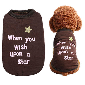 When You Wish Upon A Star Brown Spring Puppy Tank Top - Woof Apparel