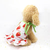 Sweet Strawberry Pattern Spaghetti Strap Puppy Dress - Woof Apparel
