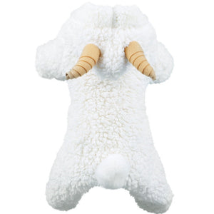 Fluffy Little Sheep with Mini Horn Cute Onesie Costume for Dog - Woof Apparel