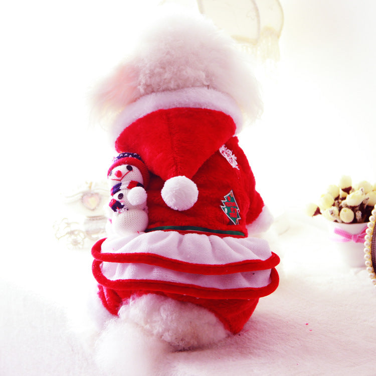 Santa Claus with Cute Patches Winter Christmas Costume for Dogs - Woof Apparel