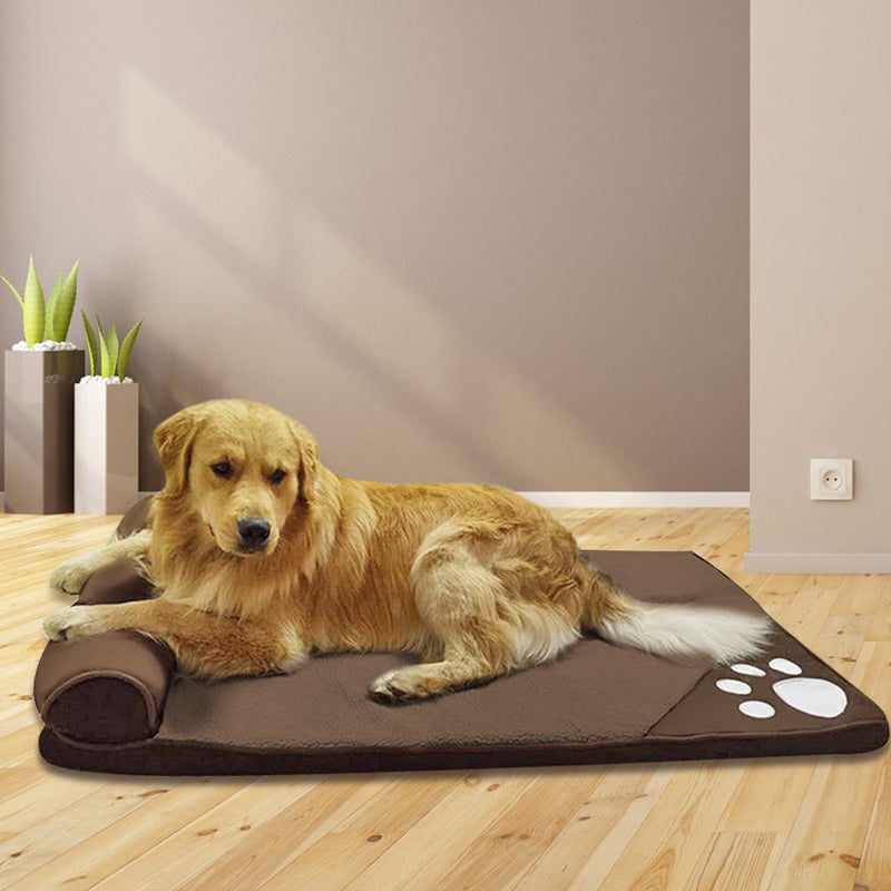 Awesome Soft Kennel Sofa Mat Cushion With Pillow Dog Bed