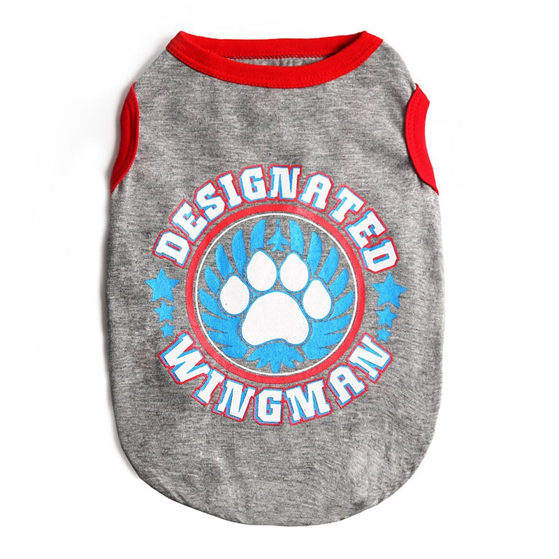 Cool Designated Wingman Pawprint Logo Spring Dog Shirt - Woof Apparel
