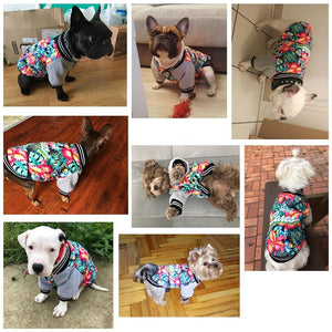 Fancy Hawaii Aloha Flower Print Jersey Puppy Jacket - Woof Apparel