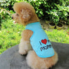 I Love My Mommy Cotton Spring Streetwear Dog Shirt - Woof Apparel