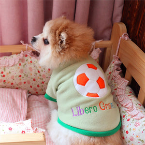 Sporty Football Libero Grande Embroid Green Puppy Shirt - Woof Apparel