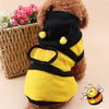 Bumble Bee Wings Fleece Hoody Costume For Dogs - Woof Apparel
