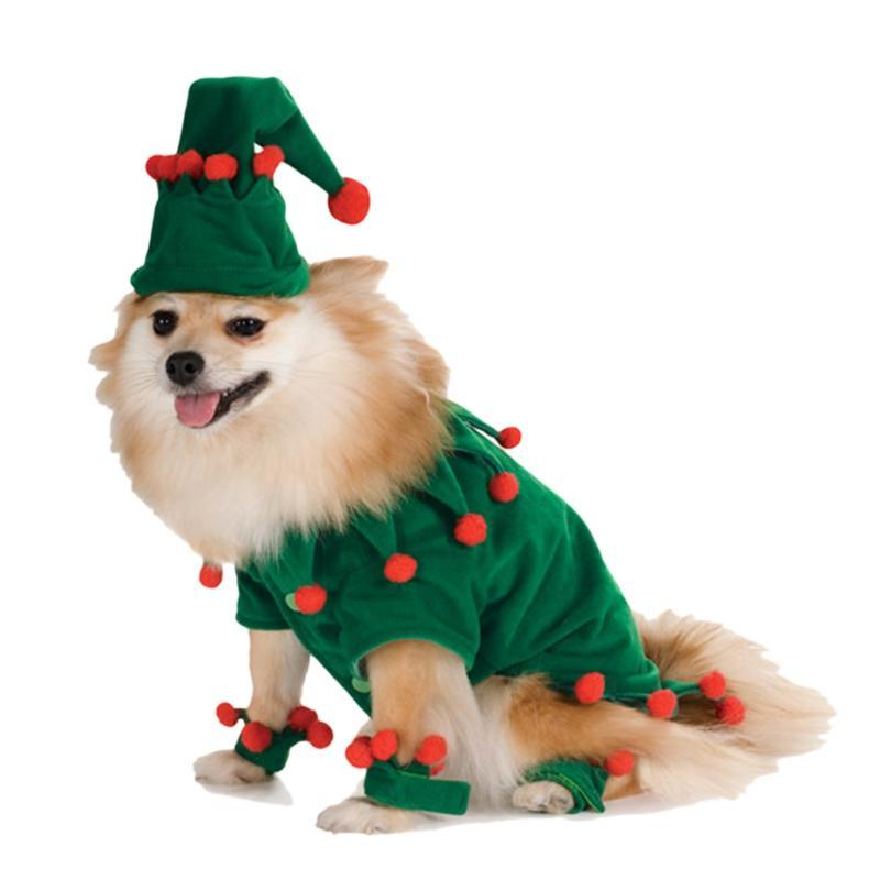 Christmas Elf with Pointy Hat Cute Costume for Dog - Woof Apparel